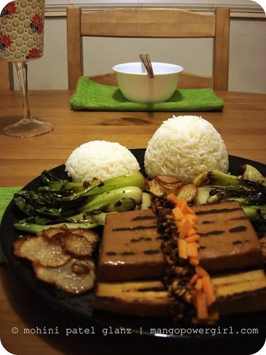 Smoked Garlic Teriyaki Tofu, Baby Bok Choy & Daicon