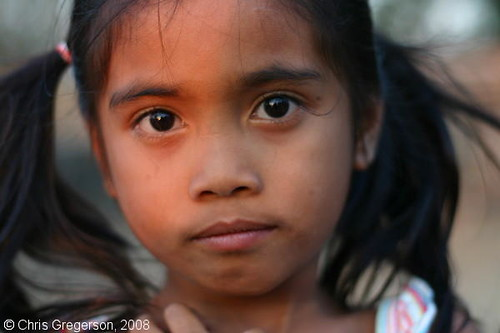 Close-up of Young Ilocano/Filipina Girl