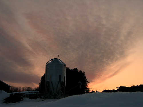 sunset snow spring vermont sundown farm vt randolphcenter canong9