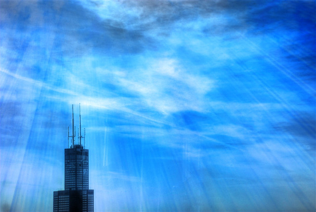 Sears Tower stands tall and alone