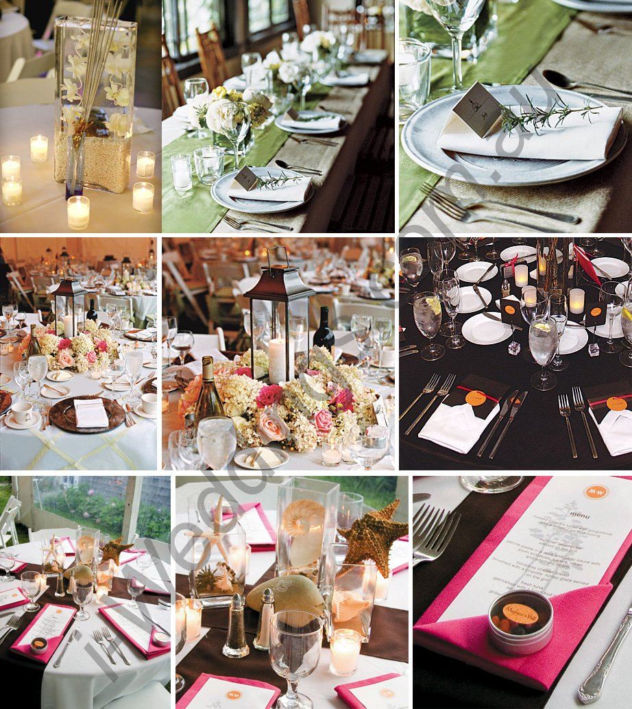 Wedding preparation wedding reception table decoration ideas for Table decoration ideas