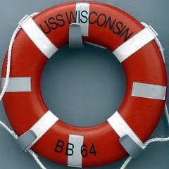 USS Wisconsin lifebuoy