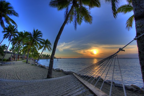 Hammock Sunset Fiji