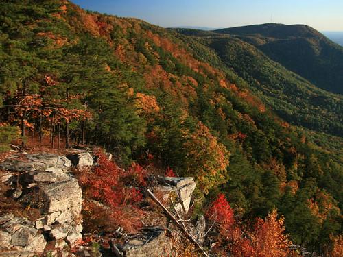 autumn mountains colors georgia fortmountainstatepark