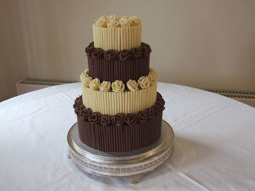Unique Chocolate Cake Images : Two Toned Chocolate Wedding Cake Wedding Cakes - Wedding ...