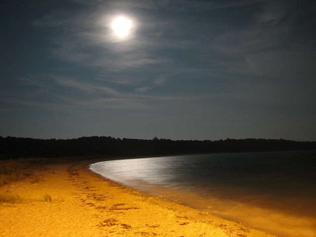 Full moon over Kiptopeke Beach