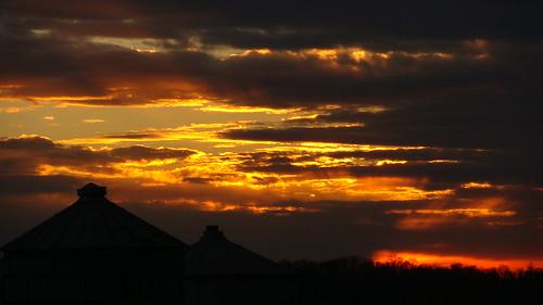 sunset beautiful farm indiana silo corydon diamondclassphotographer flickrdiamond