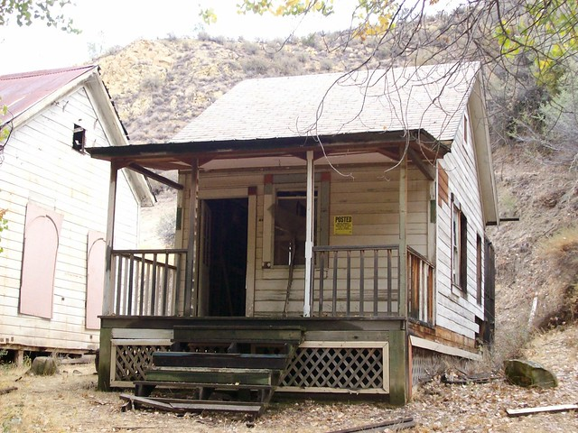 Small abandoned house at the remote ghost town of New