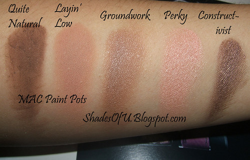 Mac for fafi paint pots and comparison swatches the for Mac paint pot groundwork