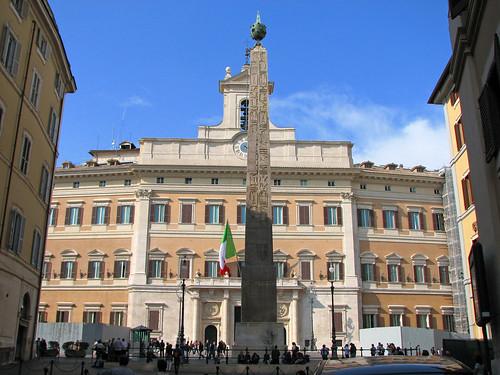 Roma - Palazzo Montecitorio ( Italian Chamber of Deputies )