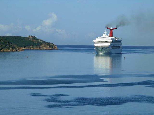 Carnival Destiny Arriving at Antigua
