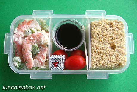 shrimp salad bento lunch for prechooler flickr photo. Black Bedroom Furniture Sets. Home Design Ideas
