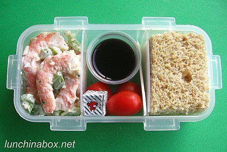 shrimp salad bento lunch for prechooler flickr photo sharing. Black Bedroom Furniture Sets. Home Design Ideas