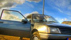 automobile, vehicle, compact car, peugeot 205, land vehicle,