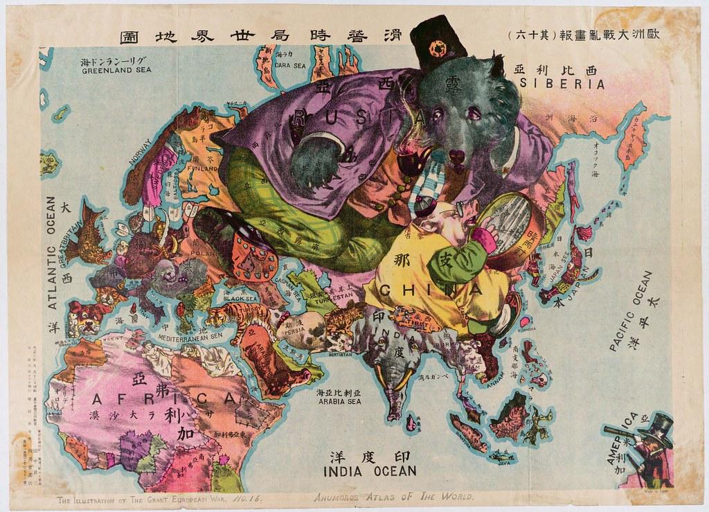 Humoristische Karte Von Europa 1914.Starye Karty Chast 2 Politicheskaya Satira I Propaganda