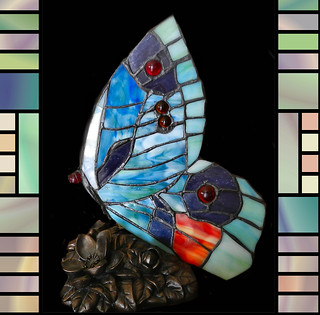 Stained Glass Butterfly Lamp