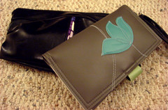 bag, brown, coin purse, leather, wallet,