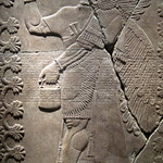 NYC: Brooklyn Museum - Reliefs of King Ashur-nasir-pal II - Eagle Headed Genie Between Two Sacred Trees