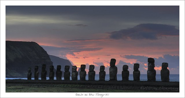 Dawn at Ahu Tongariki