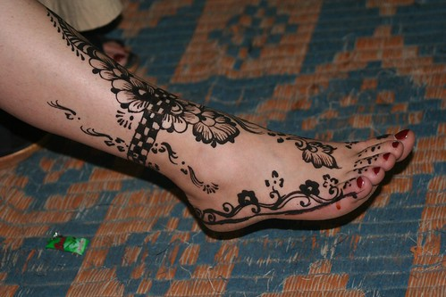 Tattooed leg and foot