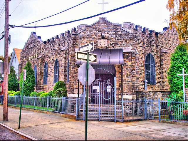 Church at Neck Road and Van Sicklen Street HDR