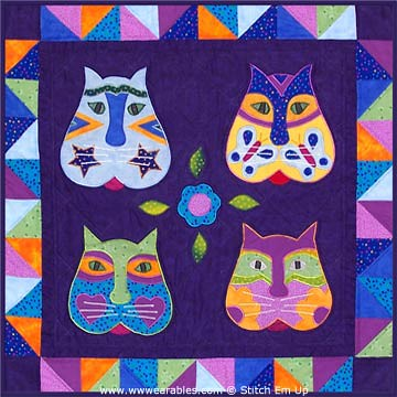 Gatos Kitty Cat Applique Wall Hanging Pattern | Flickr