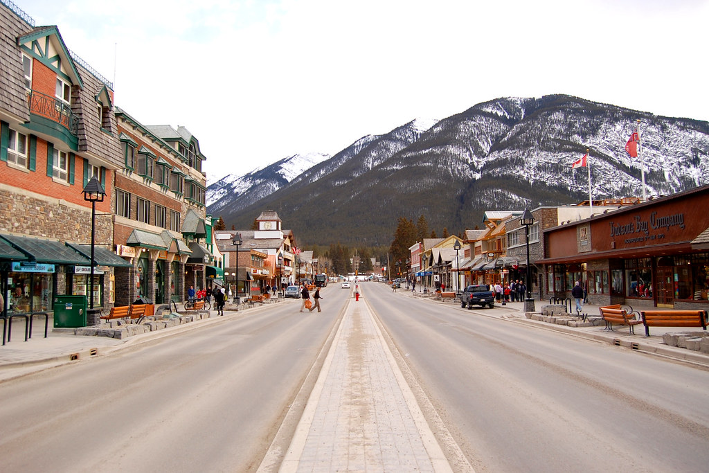 The Banff streets, where events take place