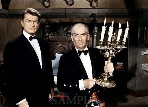 Louis de Funès a Jean Marais vo filme Fantomas kontra Scotland Yard (1966)