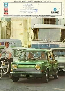 Simca 1000, 1974