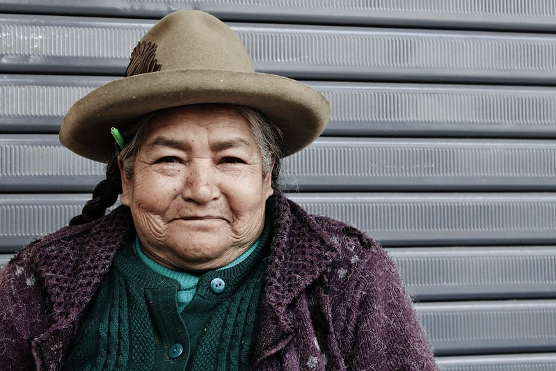 A lovely old lady in San Luis