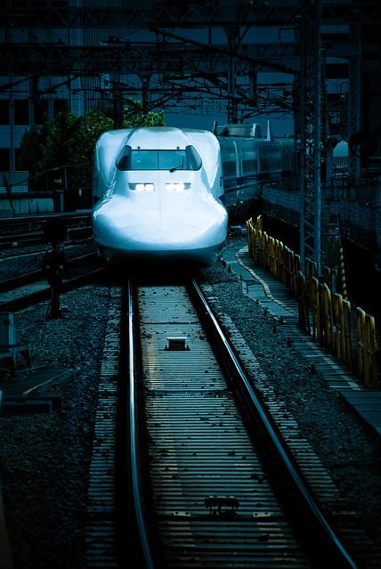 Deep blue: Shinkansen