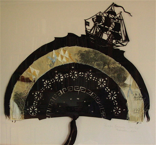 Fan from the 'Tasmanian Explorers Artefacts' series, 2002