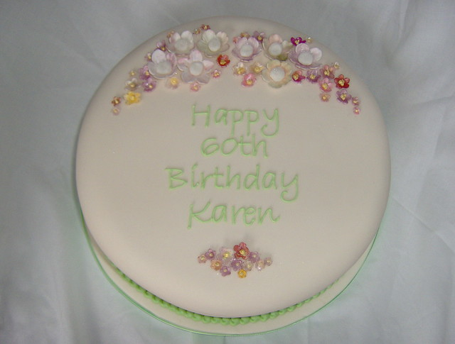 Karen s 60th Birthday Cake Flickr - Photo Sharing!