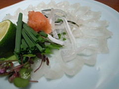 河豚 Sashimi of Balloonfish