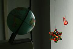earth, star, heart