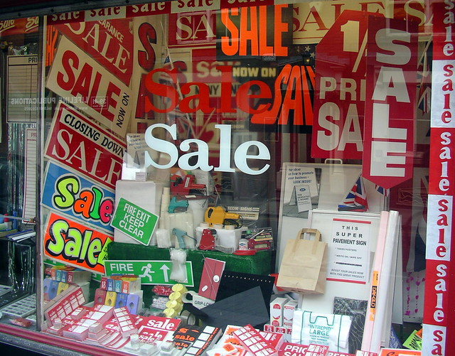 Photo:Sale In A Sale Shop Selling Sale Signs By:the justified sinner