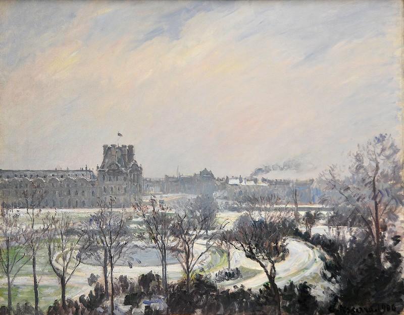 """Rouen (Seine-Maritime) - Musée des Beaux-Arts - """"Jardin des Tuileries, effet de neige"""" (Camille Pissarro, 1830-1903)"""