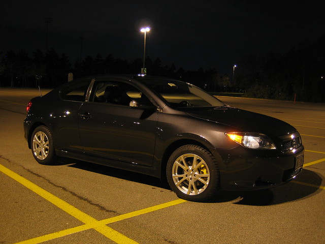 scion tc on sport edition f10 16x7 wheels dunlop winter sport m3 tires flickr photo sharing. Black Bedroom Furniture Sets. Home Design Ideas