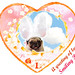 *SMILING PUG* - HAPPY VALENTINE'S DAY, MEL B VINTAGE HEART FROM THE SWEETHEART SMILING PUG *-*