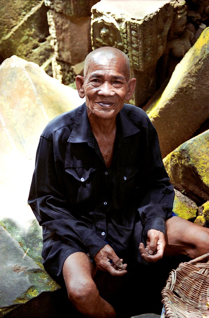 Old Cambodian At Ta Prohm