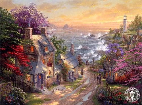 thomas_kinkade_villagelighthouse
