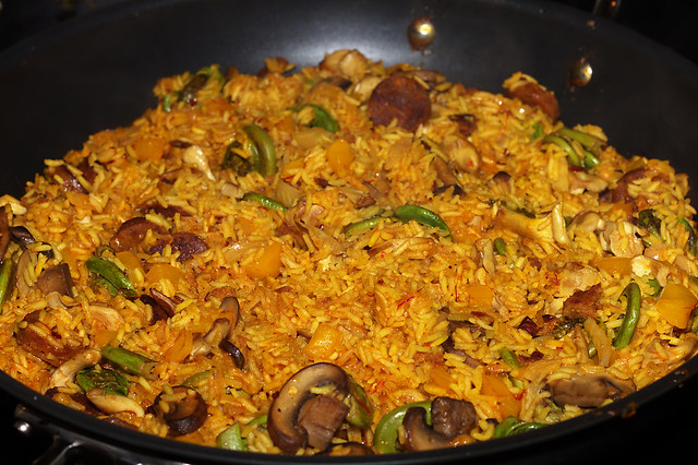 Fiddlehead and Wild Mushroom Paella | Flickr - Photo Sharing!