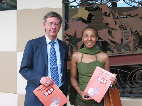 Risto Ruohonen, Chair of IFACCA and Julie Diphofa, National Arts Council of South Africa