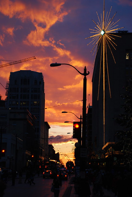 Macy's star at sunset, Pine Street | Explore James Callan ...