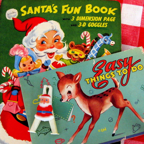 Vintage Christmas Activity Books