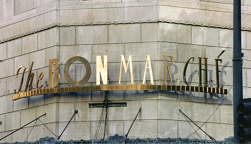 Sign: The Bon Marche Department Store--Seattle WA