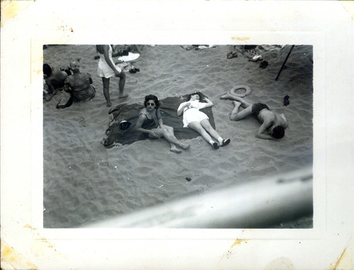 Three women on the beach
