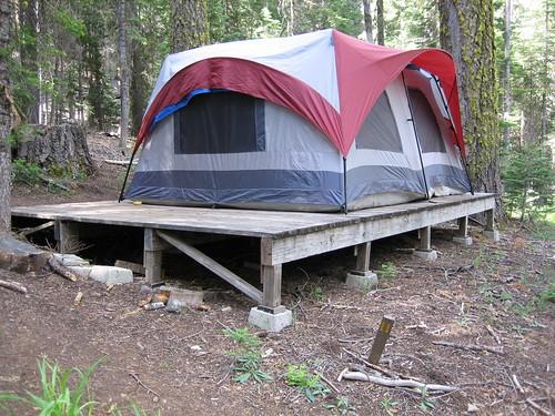 Sf state sierra nevada field campus for Tent platform plans