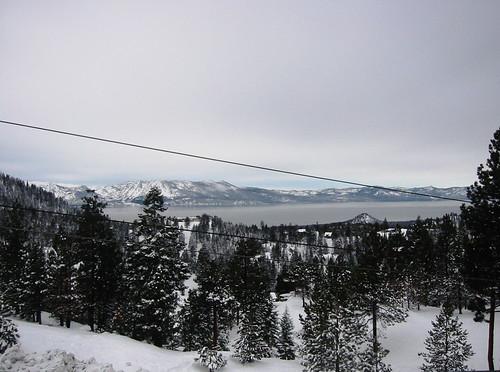lake snow storm view tahoe