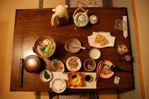 Repas traditionnel japonais